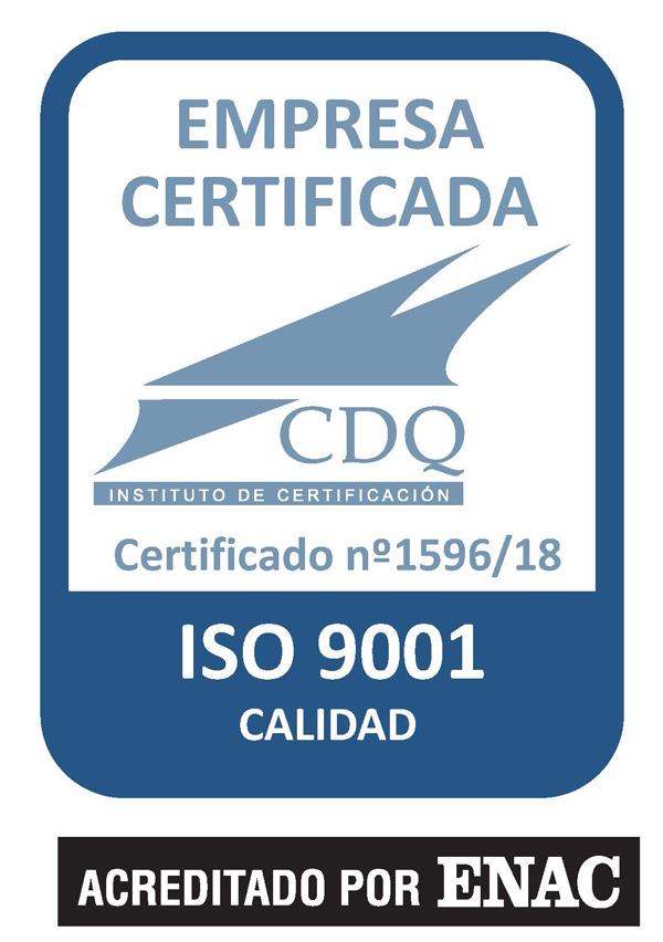 Estamos certificados bajo la norma iso 9001